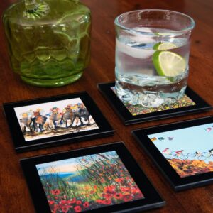 Heat Resistant Toughened Glass Coasters