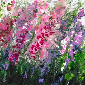 Abstract foxgloves