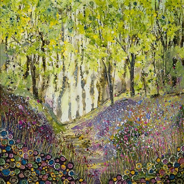 Bluebells at Mottistone Woods bluebell wood picture painting print awall art original painting