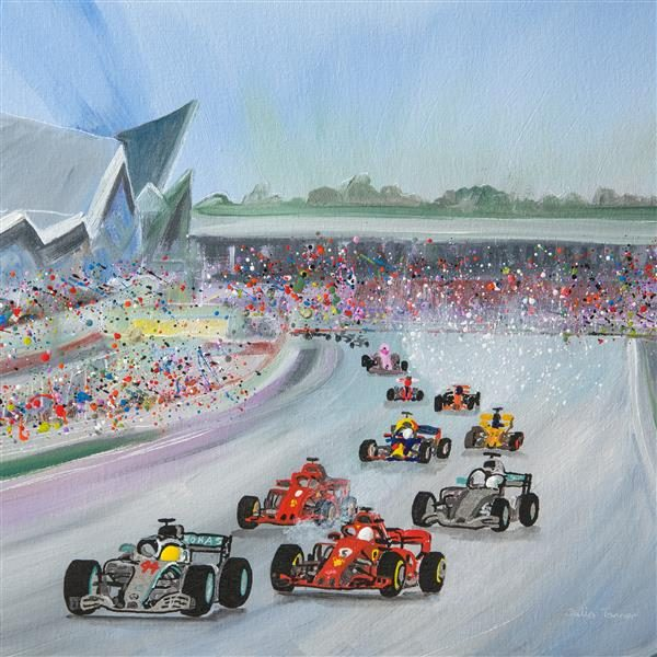 the British Grand Prix silverstone formula one painting original art picture fine art print wall art