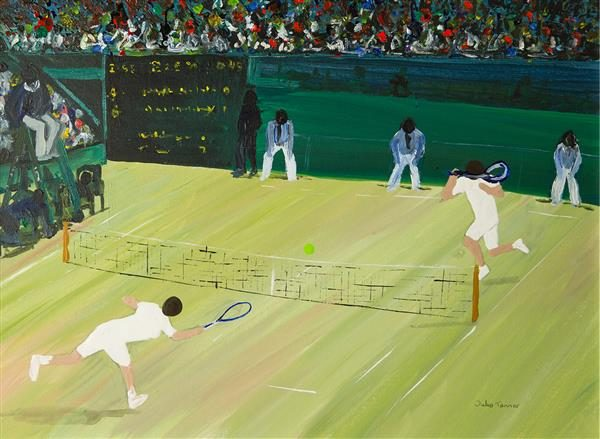 Centre Court Greetings Card