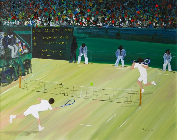 tennis painting match volley net umpire London sport abstract wall art painting original picture fine art print artwork