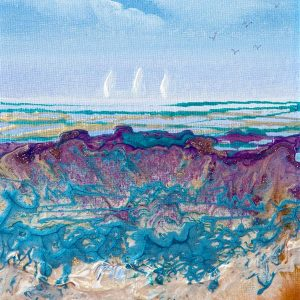 Coastal Study lV - 6in x 8in plus frame - £65