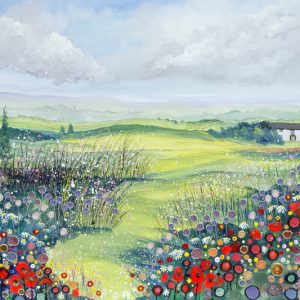 field of flowers picture wildflowers art print picture