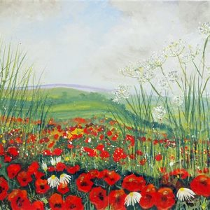 Cow Parsley and Poppies