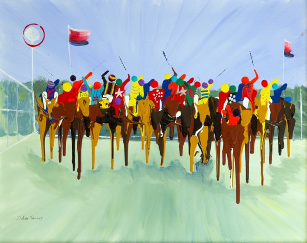 horse horses race racing galloping acrylic paint abstract aintree sport wall art painting original picture print artwork