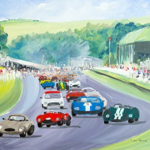 historic racing cars Porsche jaguar mini lotus race sport wall art painting original picture fine art print artwork