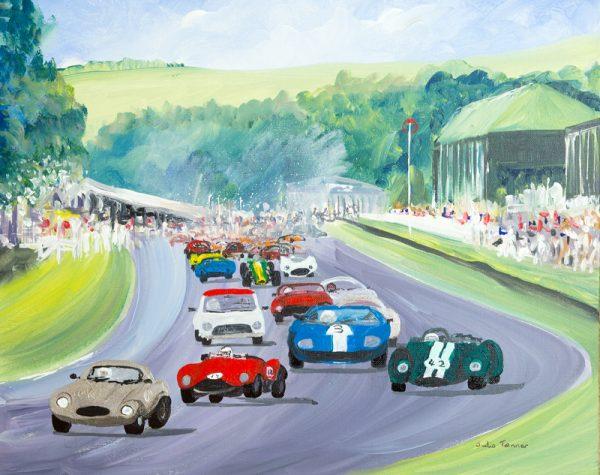 historic racing cars Porsche jaguar mini lotus race sport wall art painting original picture fine art print artwork
