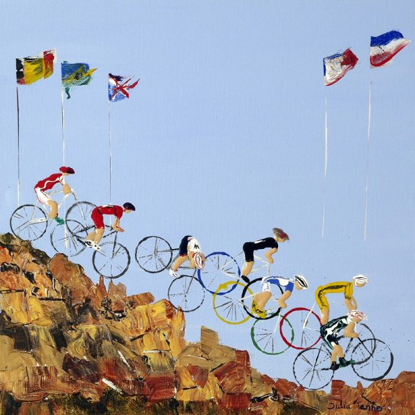 mountain bike art painting cycling bicycle Olympic Games Hadleigh Essex sport wall art original painting picture fine art print artwork