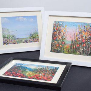 Hand Embellished Framed Prints