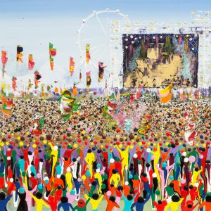 woodstock musician bestival crowd singer wall art painting original picture fine art print artwork