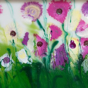 wild flowers original resin flower painting wall art picture fine art print artwork flower field