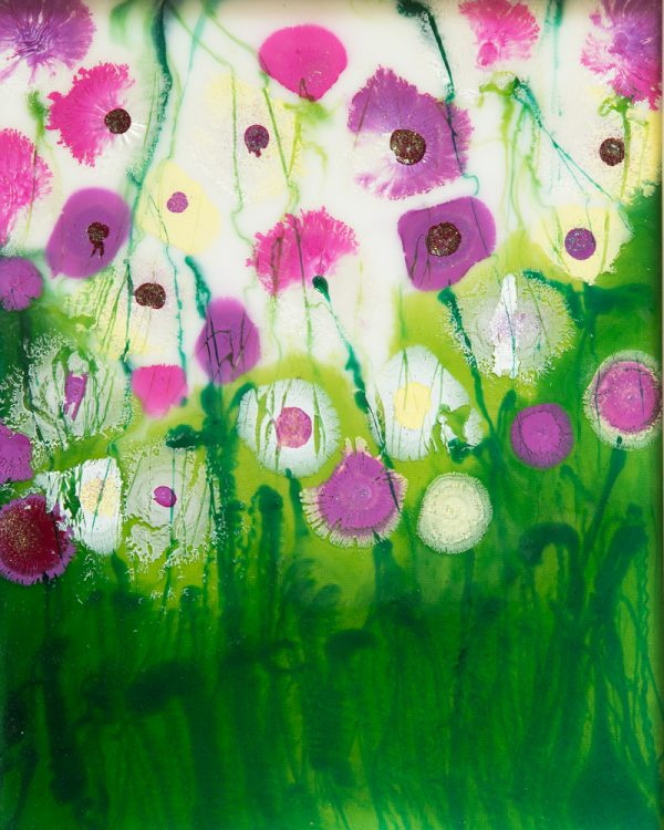 original resin painting floral landscape flowerscape wall art picture print artwork