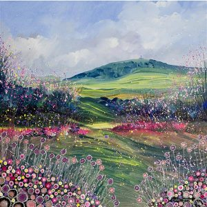 Tennyson Down from Headon Warren - Fine Art Print isle of wight painting picture print art wall art artist
