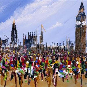 The London marathon Greetings Card