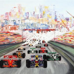 The Monaco Grand Prix Greetings Card