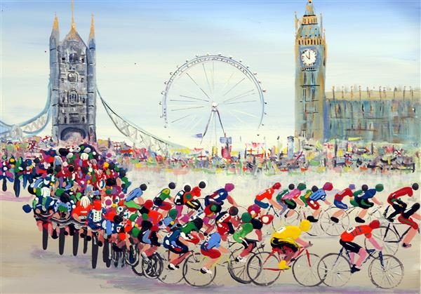 The Tour of Britain Greetings Card