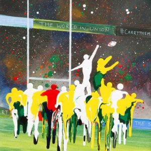 rugby sport line out rugby union World Cup the wallabies sport wall art painting original picture print artwork
