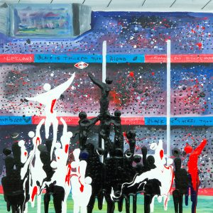 line out rugby sport New Zealand national rugby union wall art painting original picture print artwork