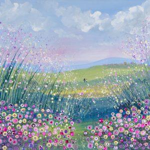 flowerscapes wildflower meadow painting wall art picture fine art print artwork
