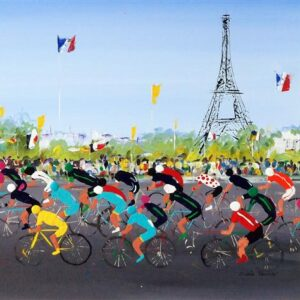 le tour de France abstract art cycling cycle bicycle race painting picture wall art print