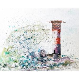 lighthouse storm January 2022 fine art calendar image