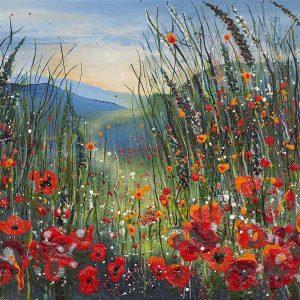 Poppies poppy meadow print painting original art wall art fine art print art painting