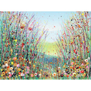 greetings card hand embellished framed print