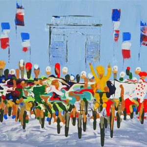 Tour de France Champs Elysees - Fine Art Print bicycle rave cycling picture