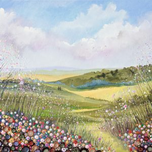 flowerscape painting wildflower meadow painting
