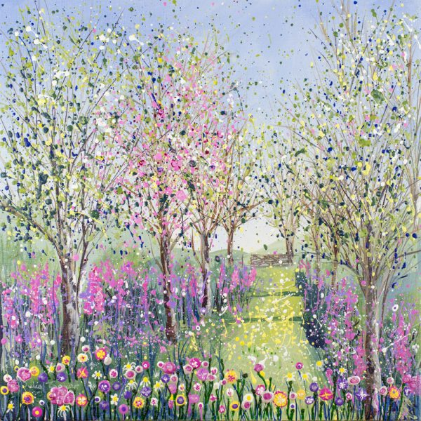 spring blossom trees woods woodland painting print picture wall art
