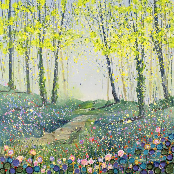 bluebell wood painting picture print art spring flowers woodland