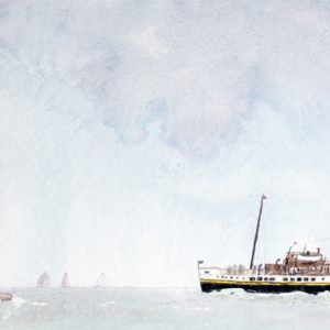 The Waverley at The Needles painting isle of wight fine art artist print wall art buy