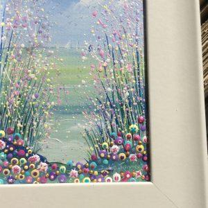 original seascape painting flowers acrylic
