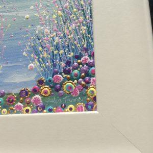 seascape floral art picture
