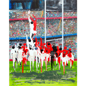 rugby greetings card
