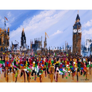 London marathon greetings card