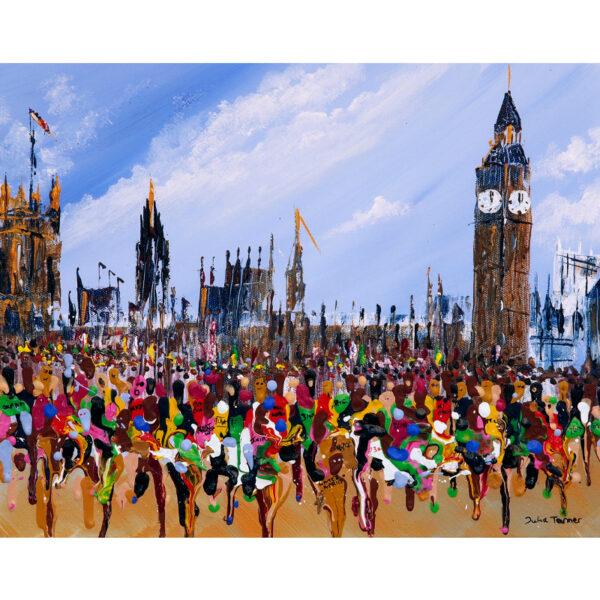 London marathon greetings card