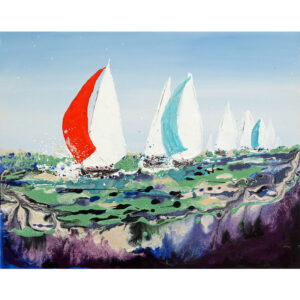 yacht race original painting