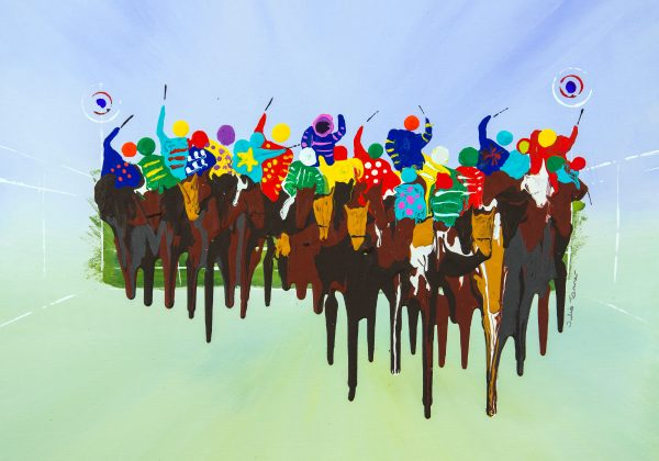 horse race original artwork