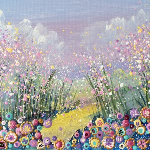 flower meadow painting