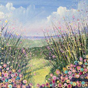 Floral landscape painting
