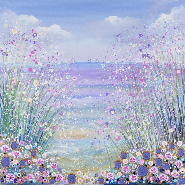 seascape floral landscape yachts original artwork