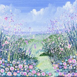 pink flowers flowerscape floral landscapes artwork