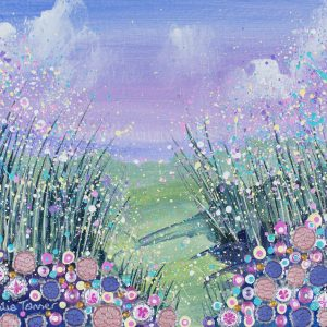 floral landscape painting artwork flowerscape