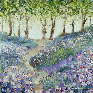 bluebells blossom trees original artwork