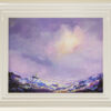 Seascape original painting purples