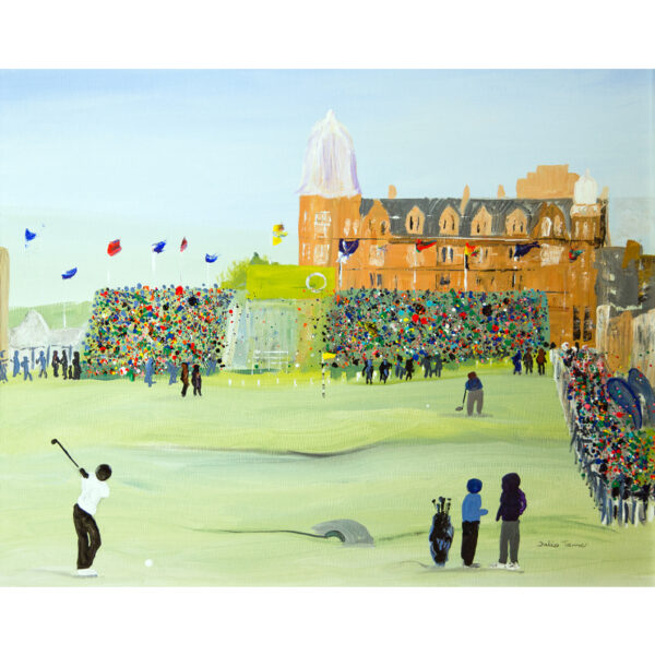 the 18th hole fine art print greetings card