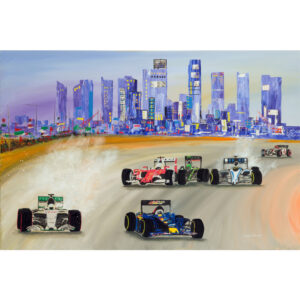 singapore grand prix fine art print greetings card