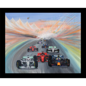 formula one f1 lewis Hamilton art glass table mat placemat